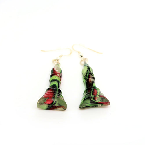 Chess piece hook earrings