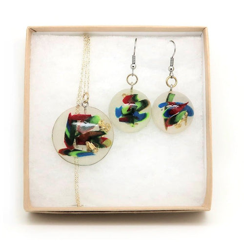 Dome Necklace + Dome Hook Earrings