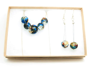 Bead Necklace + Bead Hook Earrings
