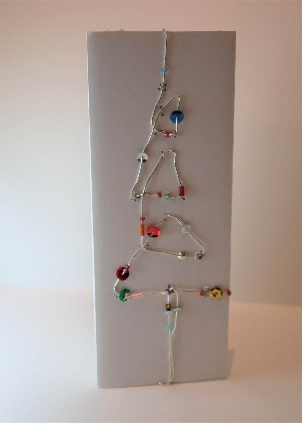 Wire beads and sequin tree