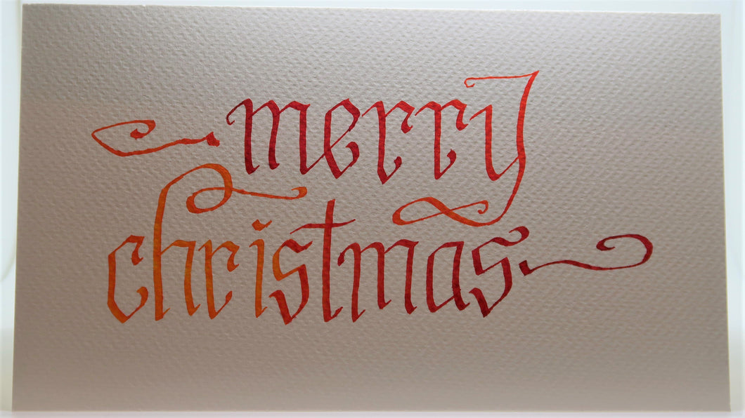 Merry Christmas_Calligraphy curls_Red/orange