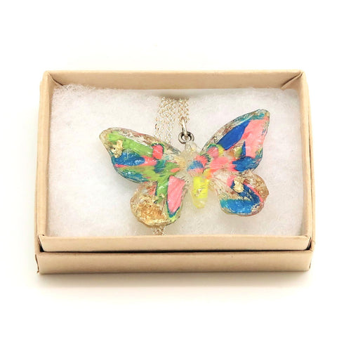 Resin Butterfly Necklace