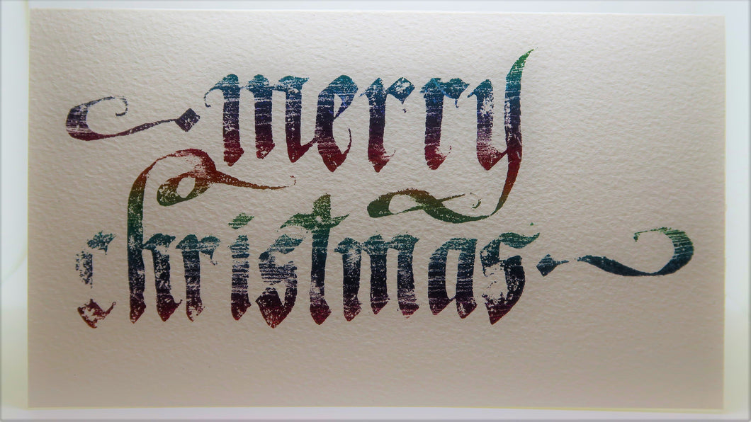 Merry Christmas_Heat transfer foils_Scratch rainbow