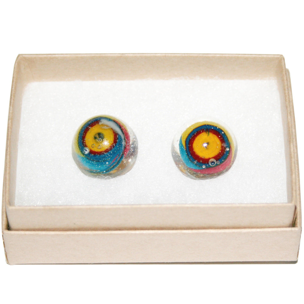 Medium Dome Stud Earrings
