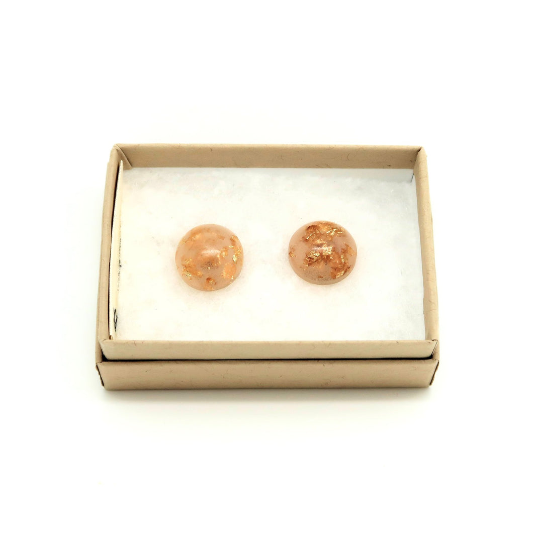 Dome stud earrings