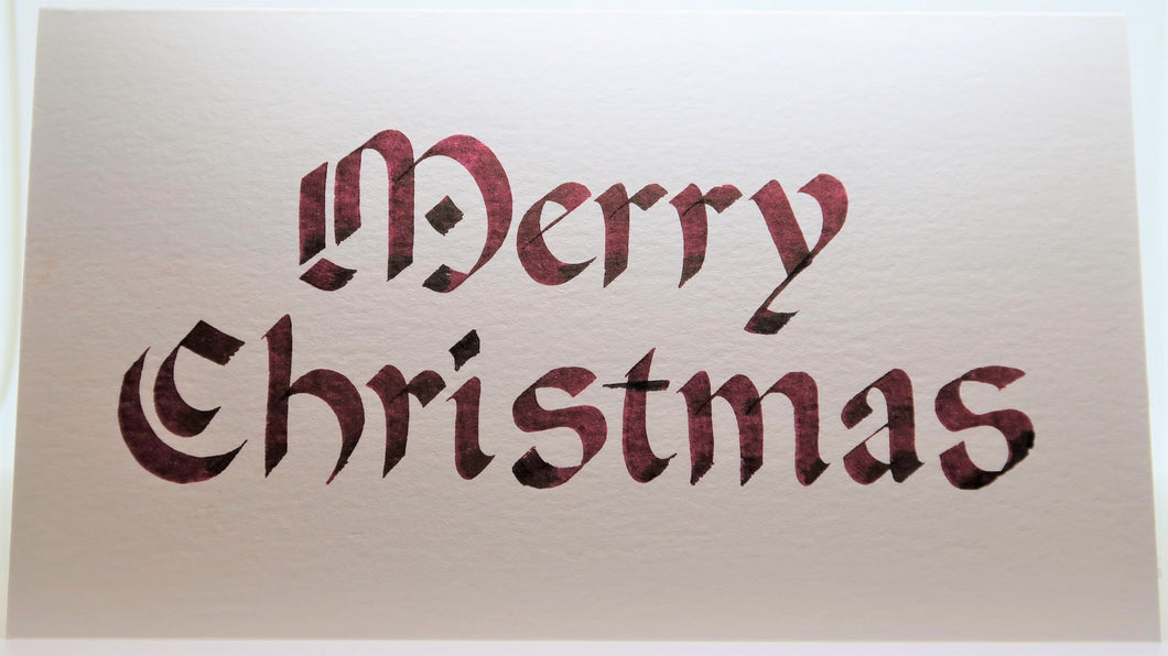 Merry Christmas_Calligraphy_Rounded_Brown
