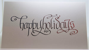 Happy Holidays_Calligraphy curls_Blue/purple/red