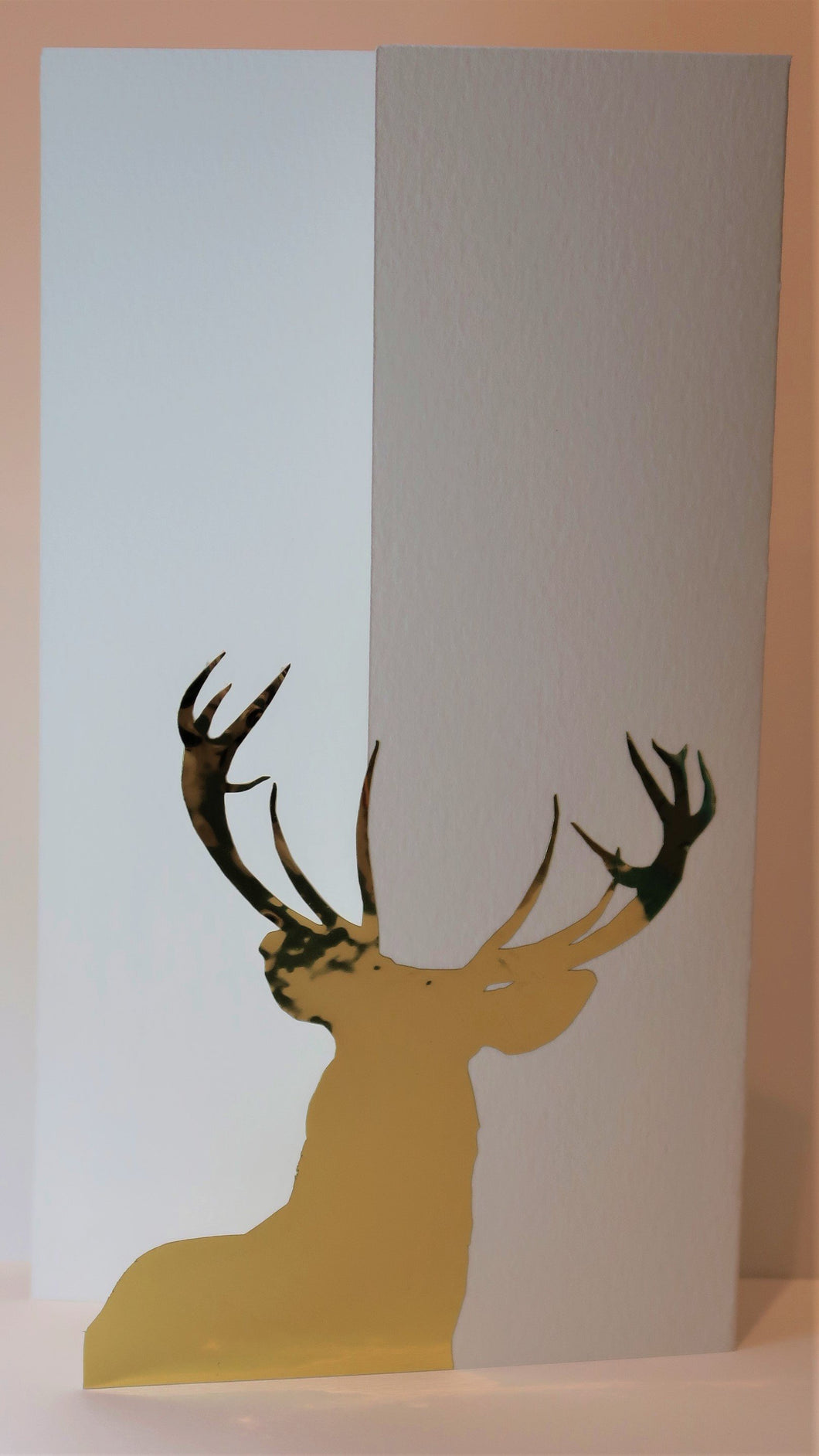 Reindeer silhouette_Gold