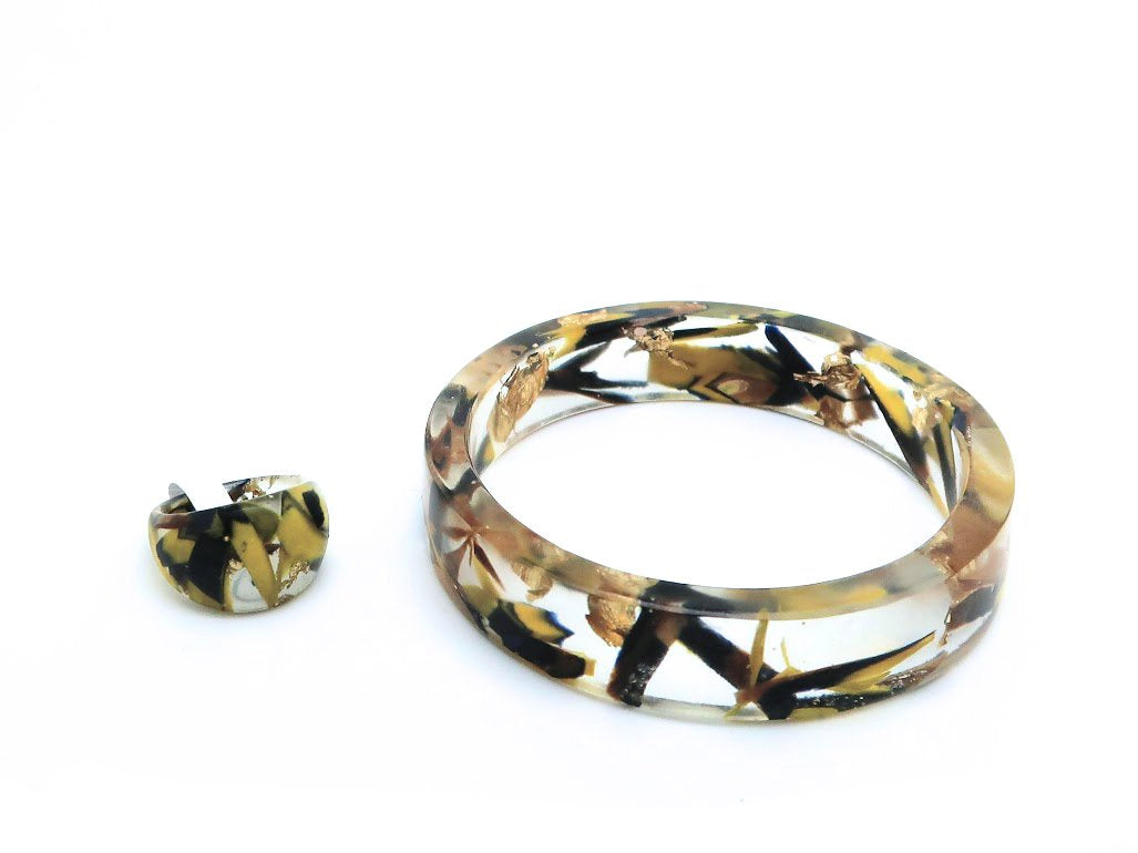 Small Resin Bangle + Resin Ring