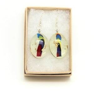 Oval Hook Earrings