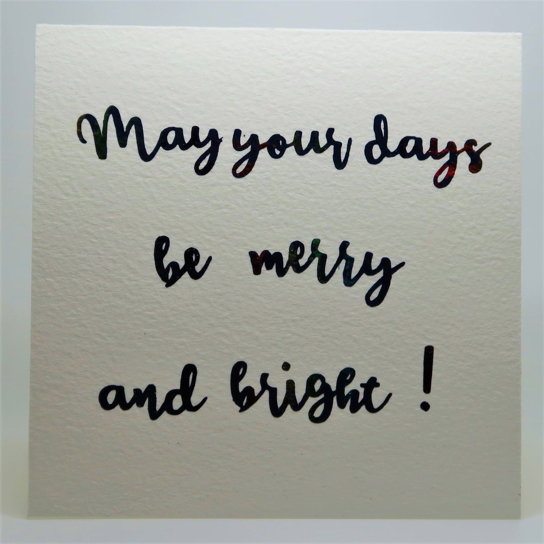 May your days be merry and bright_vinyl_Rainbow_
