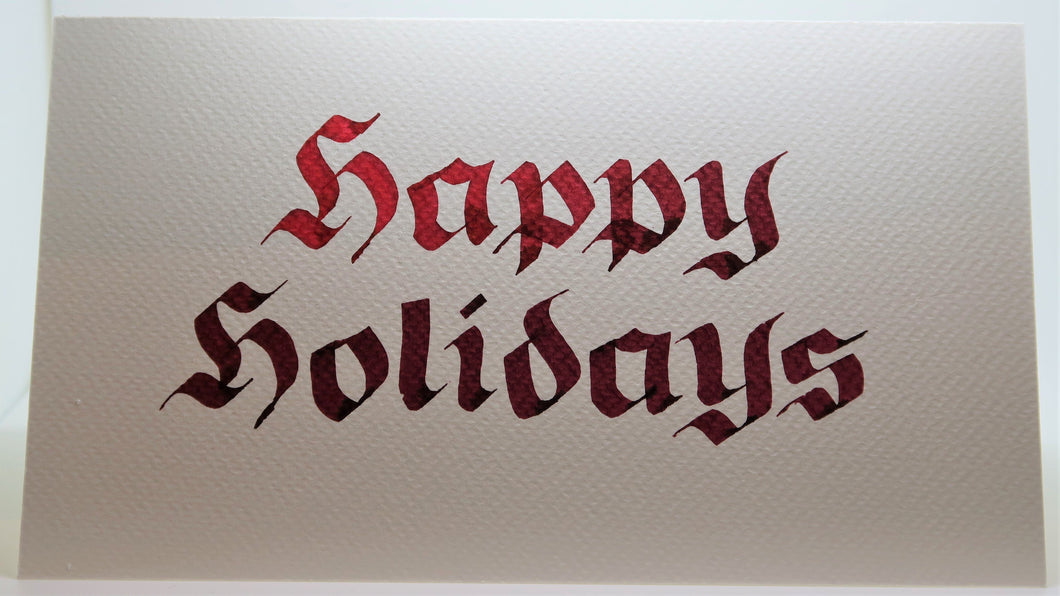 Happy Holidays_Calligraphy_Red/brown