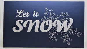 Let it Snow_White on blue_Silver