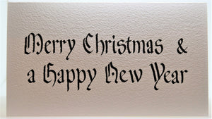 Merry Christmas and a Happy New Year_Calligraphy_Black