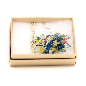 Resin Rose Necklace