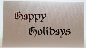 Happy Holidays_Calligraphy_Rounded_Red/Black