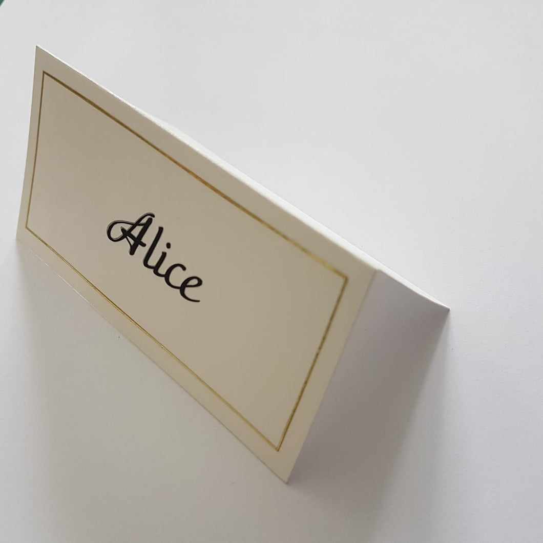 Folded Place Cards (Simple)