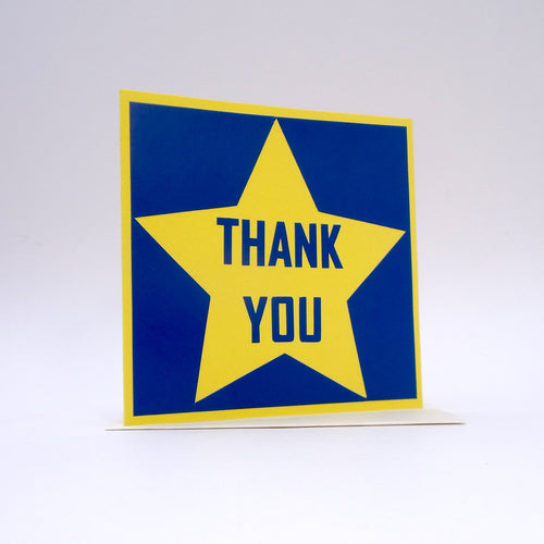 Thank You Blue and Yellow Star