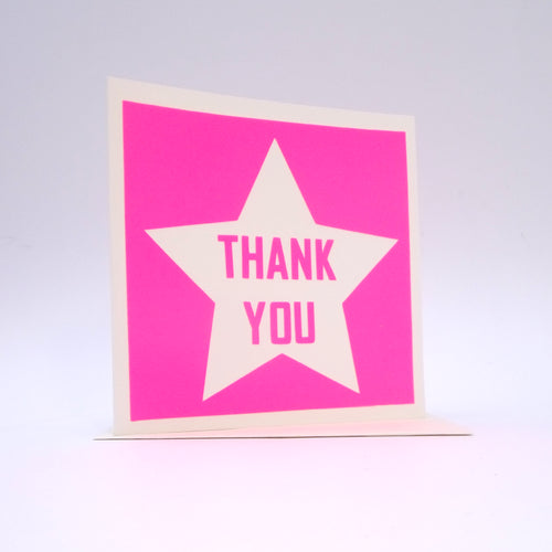 Thank You Bright Pink Star