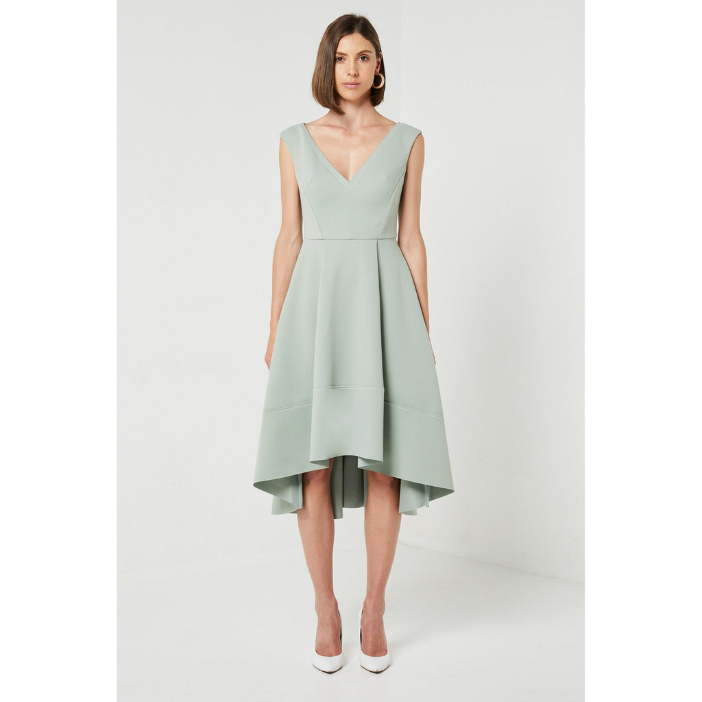 Latte Dress Sage - The Corporate Collective