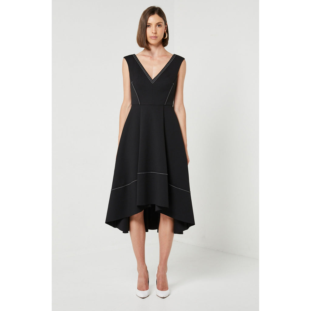 Latte Dress Black - The Corporate Collective
