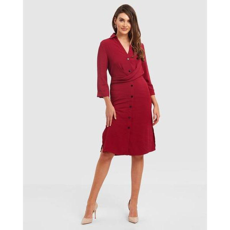 Angelique Gathered Front Dress - The Corporate Collective