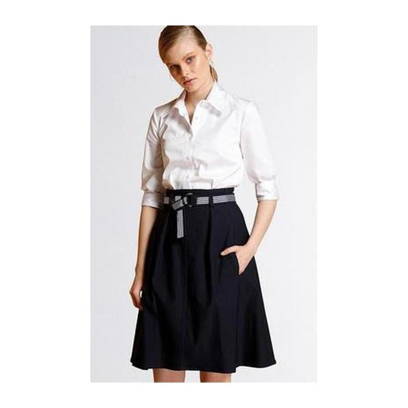 Belted A-Line Skirt - The Corporate Collective
