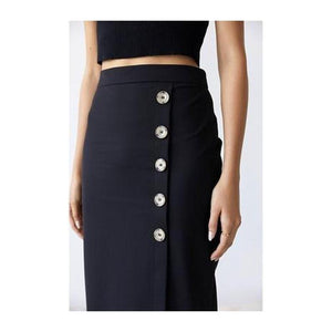 Dylan Buttoned Skirt - The Corporate Collective