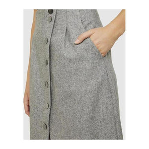 Midi Diagonal Button Skirt - The Corporate Collective