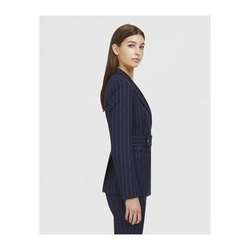 Pinstripe Navy Blazer - The Corporate Collective