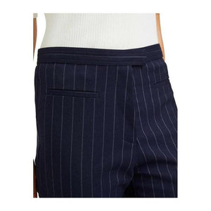 Pinstripe Navy Waistband Pants - The Corporate Collective