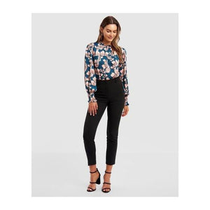 Ryona Shirred Neck Blouse - The Corporate Collective