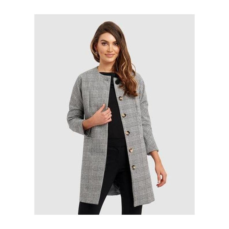 Sharisse Collarless Coat - The Corporate Collective