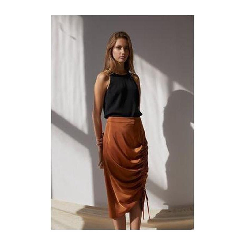 Sienna Drawstring Midi Skirt - The Corporate Collective