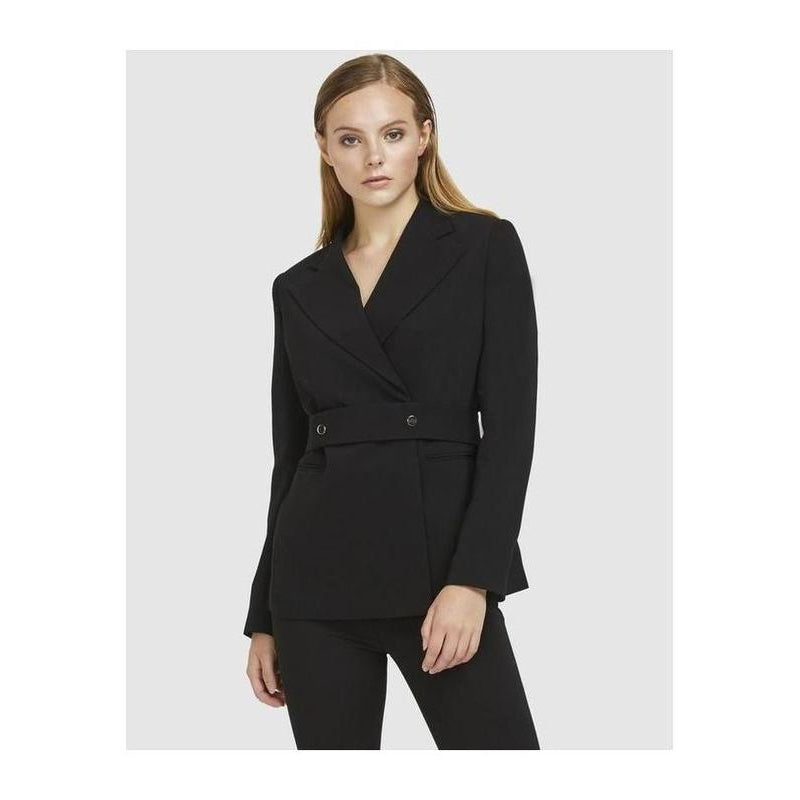 Snap Belt Blazer Black - The Corporate Collective