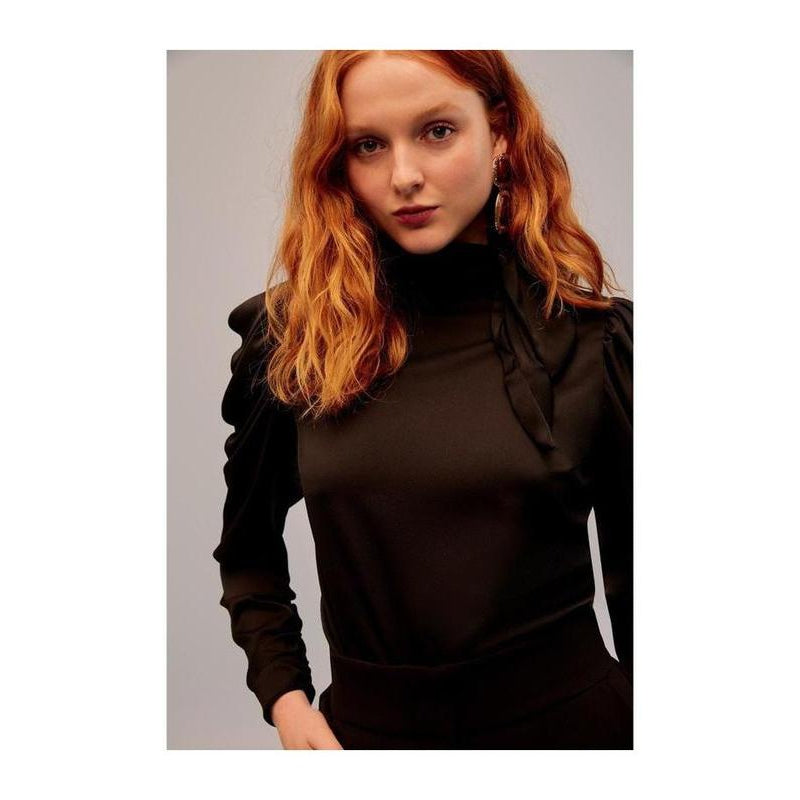 Vienna Long Sleeve Top - Black - The Corporate Collective
