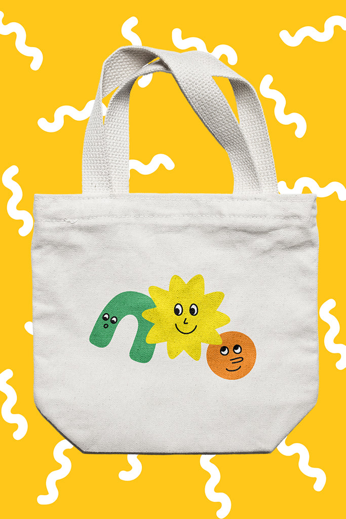 CUTTIN SHAPES TOTE BAG