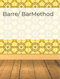 Barre/ BarMethod Hashtag Rx List