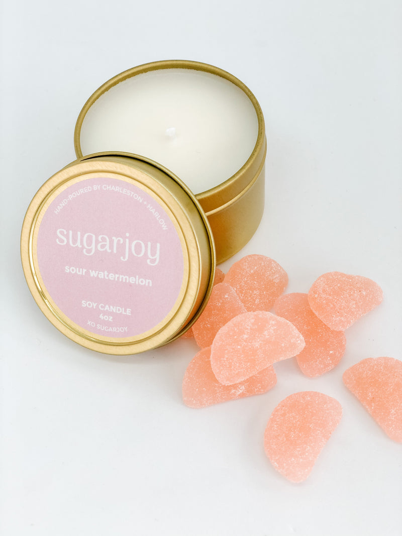 Sour Peach Lips and Sour Watermelon Candles