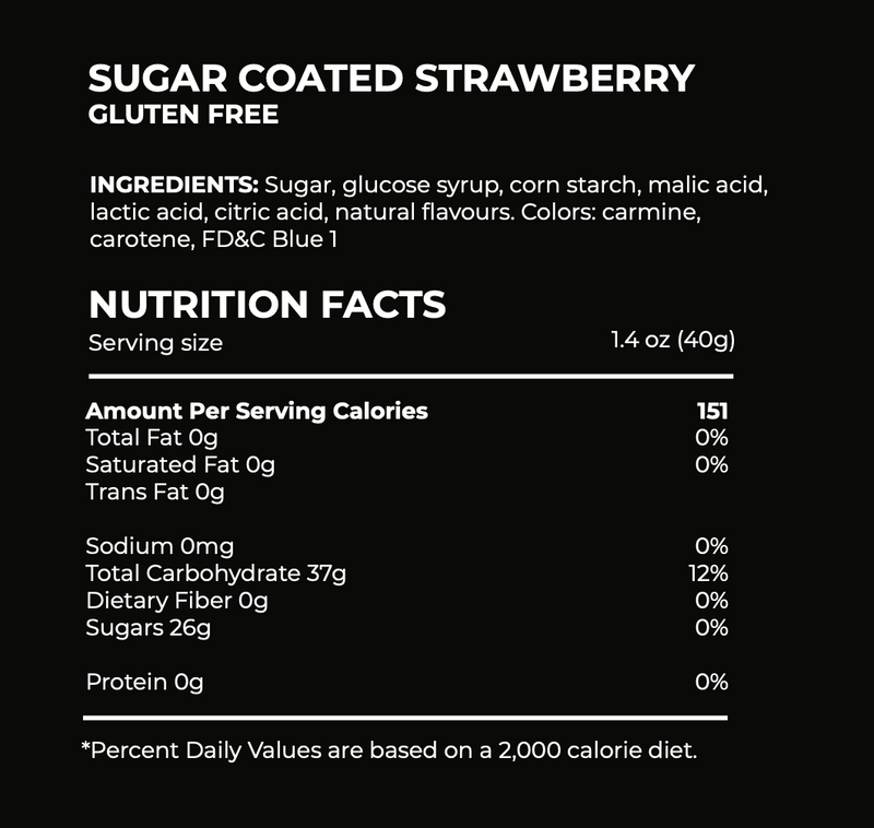 Sugar Coated Strawberry candy ingredients