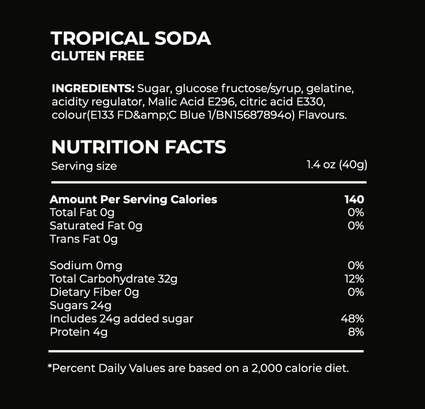 tropical soda candy ingredients