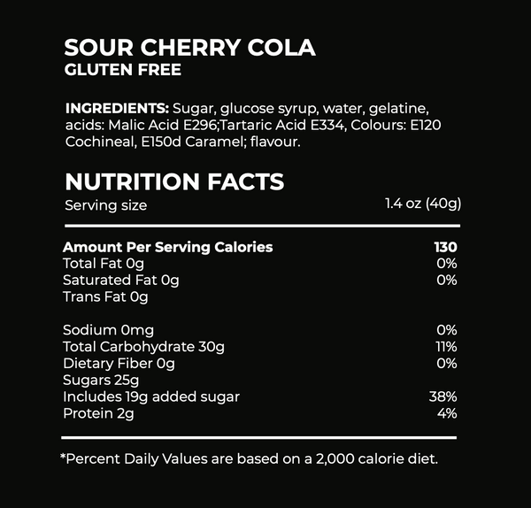 Sour Cherry Cola candy ingredients