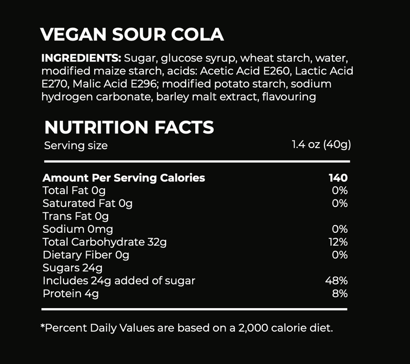 Sour Cola Candy ingredients