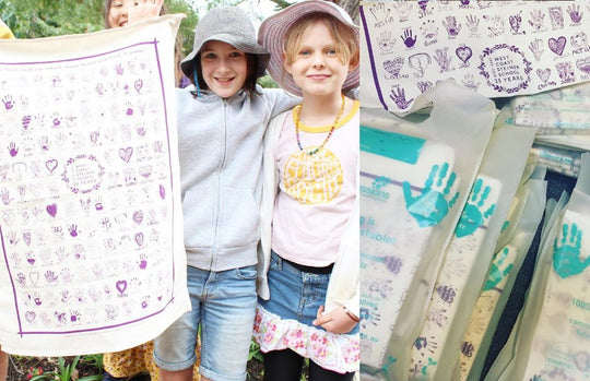 Pretty in Purple Tea Towel
