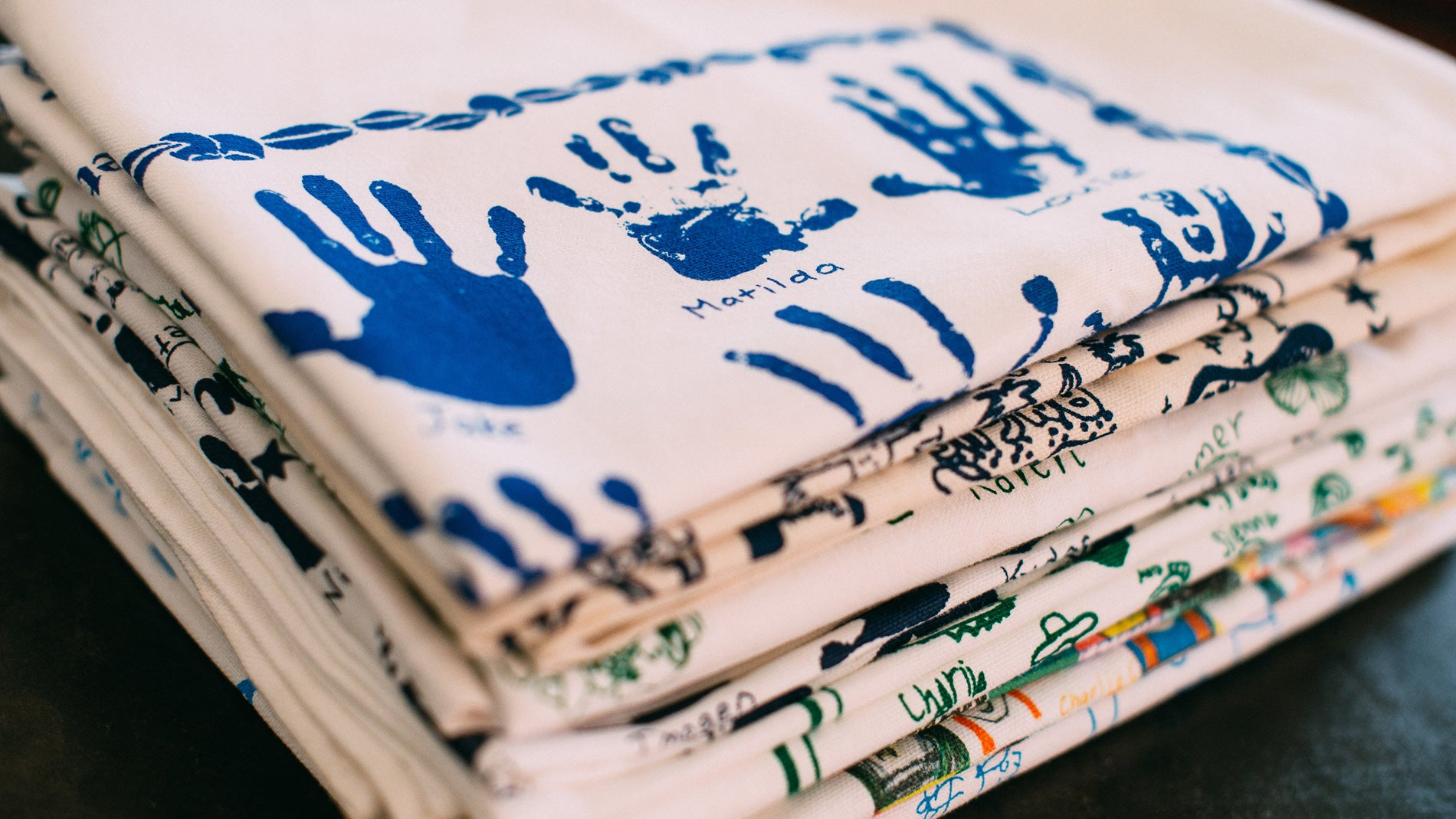 Expressions Fundraising printed personalised tea towels