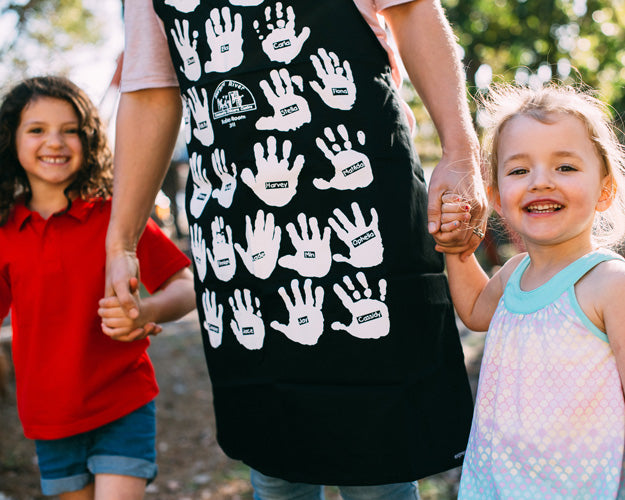 Printed fundraising aprons for childcare, daycare, schools and clubs