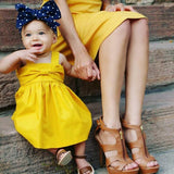 Summer Cute Sleeveless Bowknot Baby Mini Dress