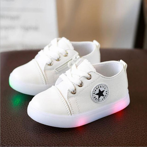 Kids Fashion Led Canvas Sneakers-Unisex