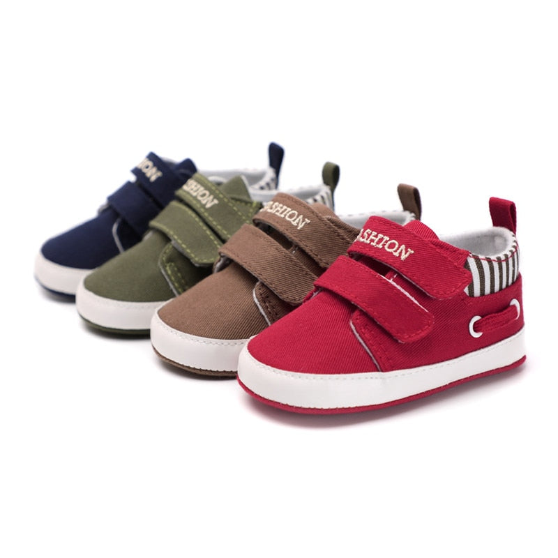 Sole Soft Moccasins Canvas Solid Footwear For Newborns