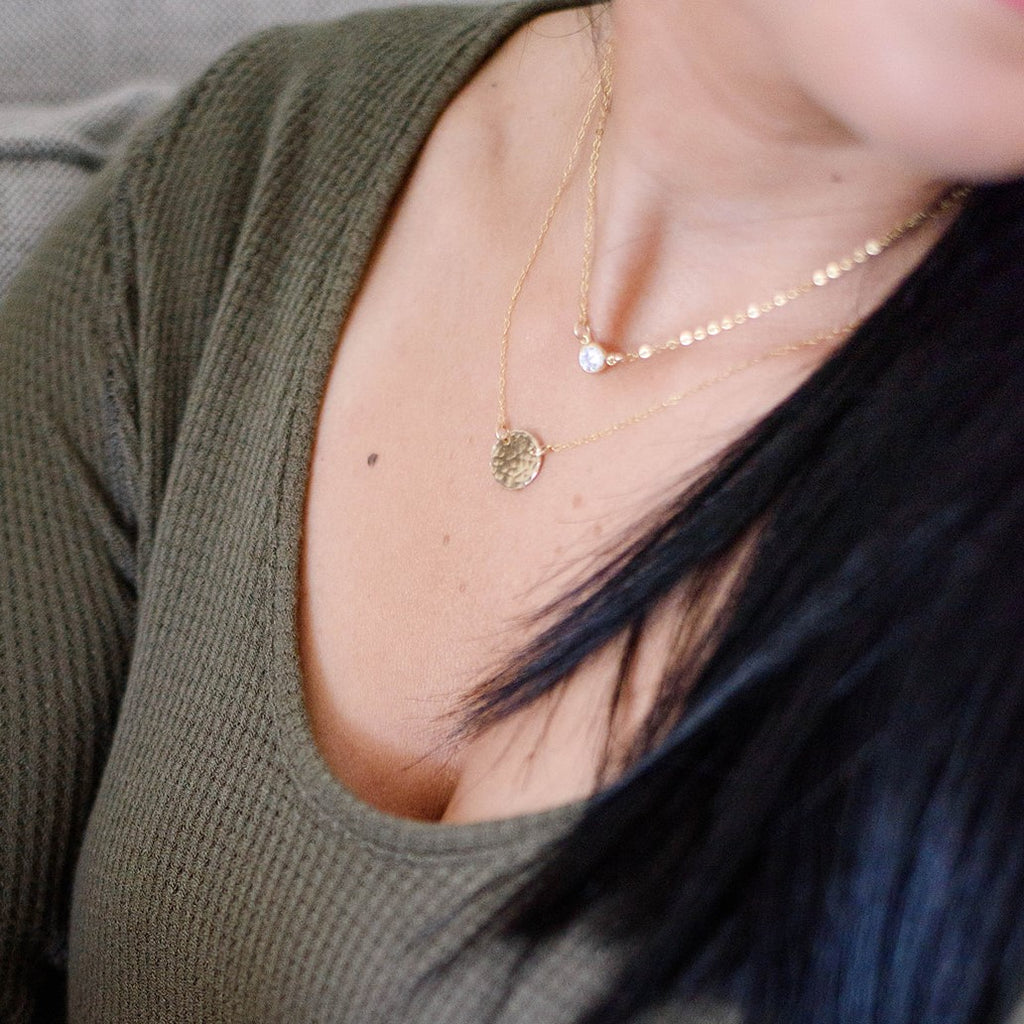 DROP DISC NECKLACE